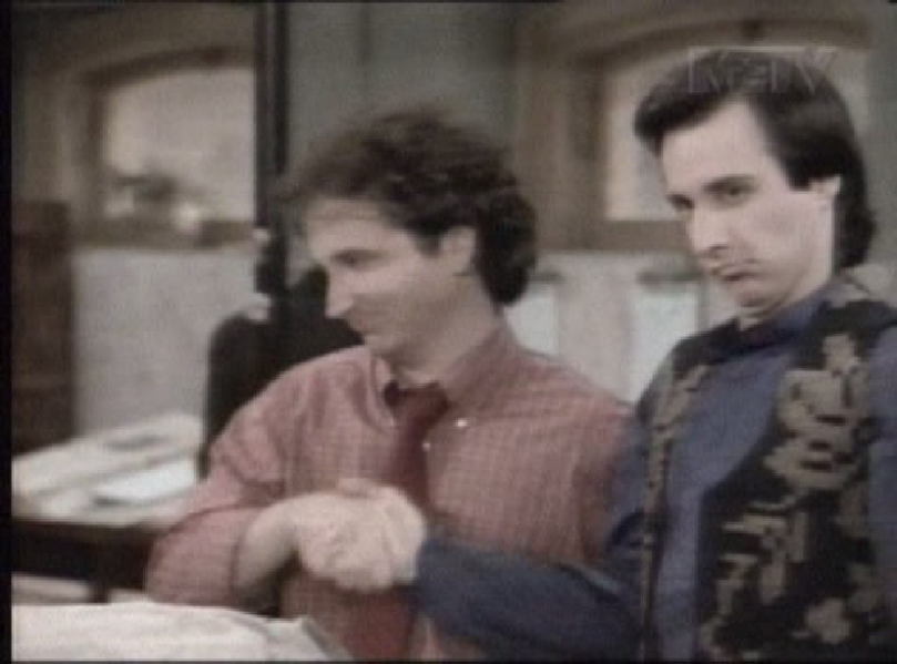 Larry and Balki share a professional moment